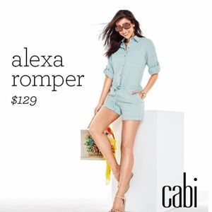 Cabi • Blue Chambray Alexa Safari Button Romper